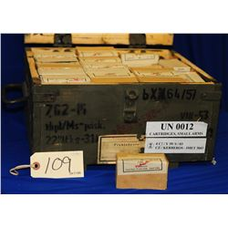 Box lot 7.62 x 25 Ammo