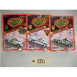 Road Champs Die Cast Cars (3) Police Series (1995)