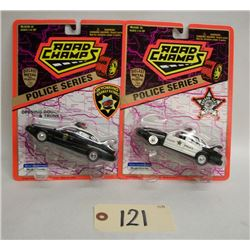 Road Champs Die Cast Cars (2) Police Series (1995)