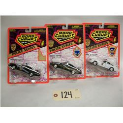 Road Champs Die Cast Cars (3) Police Series (1996)