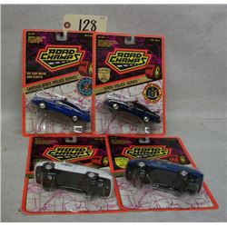 Road Champs Die Cast Cars (4) State Police Series