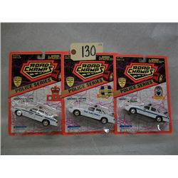 Road Champs Die Cast Cars (3) Police Series (1997)