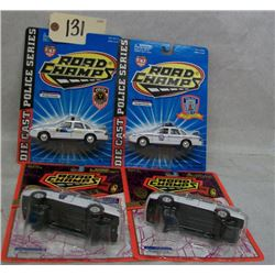 Road Champs Die Cast Cars (4) Police Series