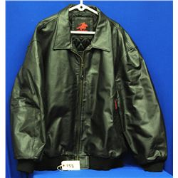 Winchester Black Leather Jacket size 2XL