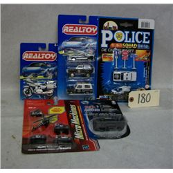 Die Cast Police Vehicle Sets x5 Various brands
