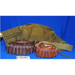 Two 12Ga Ammo Belts and Canvas Fanny Pack