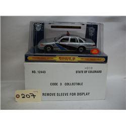 Code 3 Collectible Die Cast Polce Car