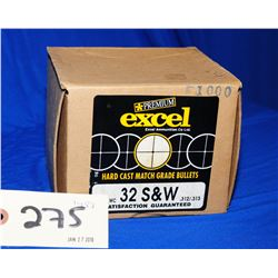 Excel 32 S&W, Projectiles