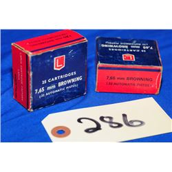 50 Rnds Lapua 7.65mm Browning/ 32 Auto