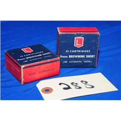 50 Rnds Lapua 9mm Browning Short/ 380 Auto