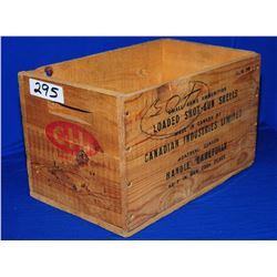 CIL Wooden Ammo Box