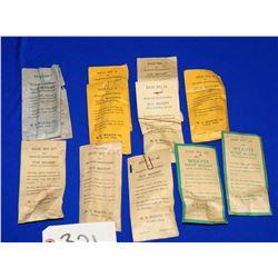 Vintage Weaver Bases in Original Envelopes