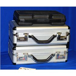 Two Aluminum Combination Lock Pistol Cases and