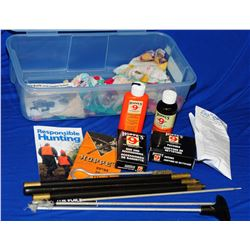 Assorted Gun Cleaning & Hunting Supplies