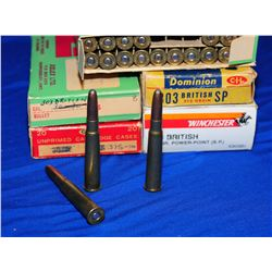 Box Lot 303 British Ammo & Brass