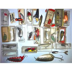 Box Lot with Vintage Fishing Lures