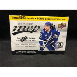 2018-19 Upper Deck MVP Hockey Factory Sealed 21 Pack Blaster Box