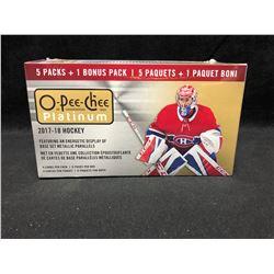2017-18  O-Pee-Chee Platinum Hockey Trading Cards 6pk Blaster Box