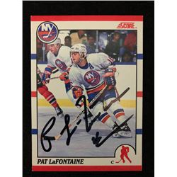 AUTO Pat LaFontaine Islanders 1990-1991 Score #250