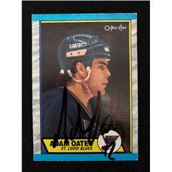 AUTO 1989-90 O-Pee-Chee OPC #185 Adam Oates
