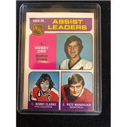 1975-76 O-PEE-CHEE #209 ASSIST LEADERS ORR/ CLARKE