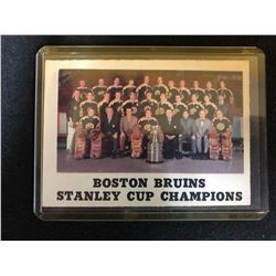 1970-71 O-PEE-CHEE #232 BOSTON BRUINS STANLEY CUP CHAMPIONS