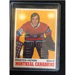 1970-71 OPC HOCKEY #49  ROGATIEN VACHON MONTREAL CANADIENS