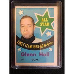 1969-70 TOPPS HOCKEY #211 GLENN HALL *ALL STAR*