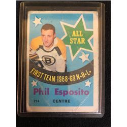1969-70 TOPPS #214 PHIL ESPOSITO ALL STAR
