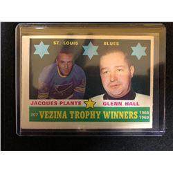 1969-70 Topps J. Plante/G. Hall #207 Vezina Trophy Winners
