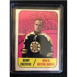 1967-68 Topps Boston Bruins Hockey Card #99 Gerry Cheevers