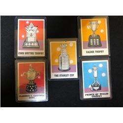 NHL TROPHY CARDS LOT
