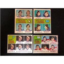 VINTAGE TEAM LEADERS HOCKEY CARD LOT