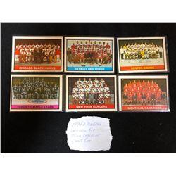 1974 OPC ORIGINAL SIX TEAM CHECKLIST CARD LOT