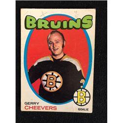 1971 OPC HOCKEY CARD GERRY CHEEVERS