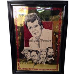 Rockford Files Mylar Framed Rare Poster