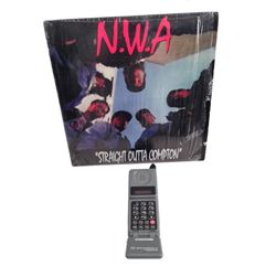 Straight Outta Compton Original Record & Cell Phone Movie Props
