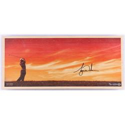 "Tiger Woods Signed LE ""Perfecting the Craft"" 11x25 Bamboo Print (UDA COA)"
