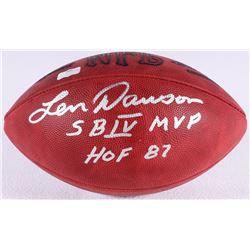 """Len Dawson Signed Official NFL Game Ball Inscribed """"SB IV MVP""""  """"HOF 87"""" (Radtke COA)"""