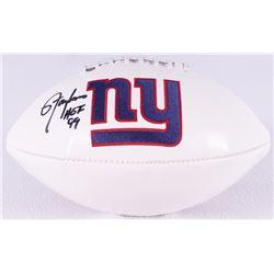 Lawrence Taylor Signed Giants Logo Football Inscribed  HOF 99  (Radtke COA)