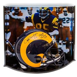 Jack Youngblood Signed LE Rams Full-Size Authentic Pro-Line Helmet Inscribed  HOF 01,   LA Rams 85 R