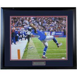 """Odell Beckham Jr. Signed Giants 24x25 """"The Catch"""" Custom Framed Photo (JSA Hologram)"""