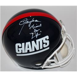 Lawrence Taylor Signed Giants LE Full-Size Authentic Proline Helmet Inscribed  Giant For Life  (Radt