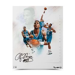"Alonzo Mourning Signed Hornets ""Buzz"" 16x20 Collage Photo LE 50 (UDA COA)"