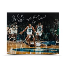 "Alonzo Mourning Signed Hornets 16x20 Photo Inscribed ""1993 Playoff Game Winner!"" LE 50 (UDA COA)"