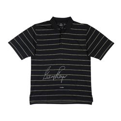 Gary Player Signed Black Polo with Green Pinstripes LE 25 (UDA COA)