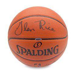 Glen Rice Signed Basketball (UDA COA)