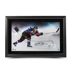Joe Sakic Signed Avalanche 17x25 Custom Framed Acrylic Hockey Stick Blade Shadow Box Display LE 25 (