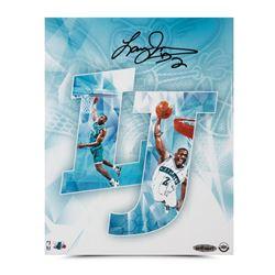 """Larry Johnson Signed Hornets """"LJ"""" 8x10 Photo (UDA COA)"""