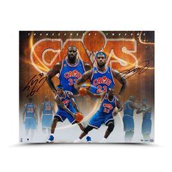 LeBron James  Shaquille O'Neal Dual-Signed Cavaliers 20x24 Photo LE of 50 (UDA COA)
